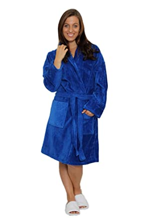 Shawl Collar Unisex Adult Terry Cotton Robe at Amazon Men s Clothing ... 87058a865