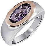 Goldmaid-Damen-Ring-925-Sterlingsilber-vergoldet-1-amethystfarbener-Zirkonia