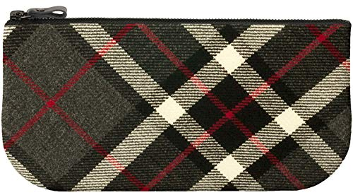 Cosmetic Grey with Leather Tartan Wool for Thomson Bag and Makeup Small Phone qntwxC818