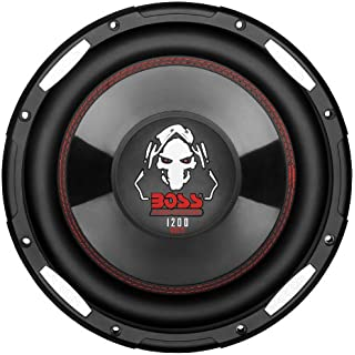 BOSS Audio P100F 1200 Watt 10 Inch Single 4 Ohm Voice Coil Shallow Mount Car Subwoofer