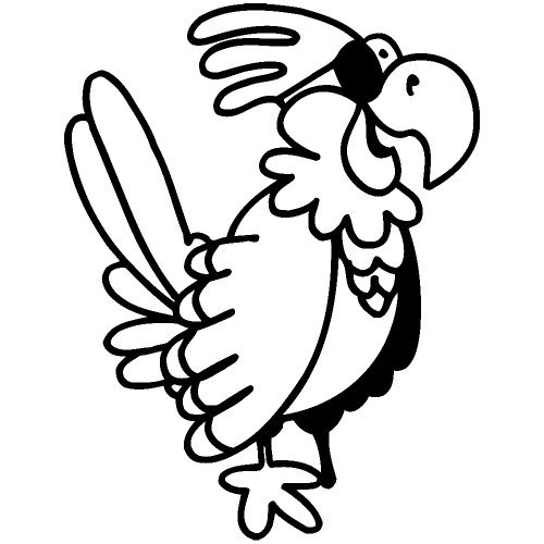 Set of 3 - Pirate Parrot Decal Sticker Color: Black, Peel and Stick Vinyl Sticker ()