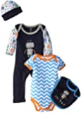 Hudson Baby Baby-Boys Robot 4 Piece Clothing Set