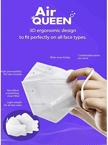 10 pcs, Air Queen Nano Filter Mask Adult