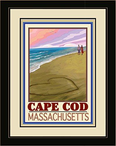 Northwest Art Mall JK-3658 LFGDM LOC Cape Cod Love On Coast Framed Wall Art by Artist Joanne Kollman, 20 x - Cod The Mall Cape
