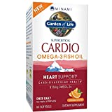 Garden of Life DHA Omega 3 Fish Oil - Minami Cardio Natural Heart and Cholesterol Health Supplement, 60 Softgels