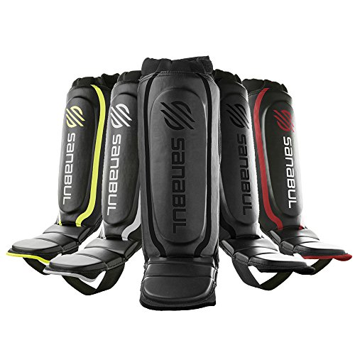 Sanabul Essential Shin Guards Black, Large/X-Large (Best Muay Thai In Mma)