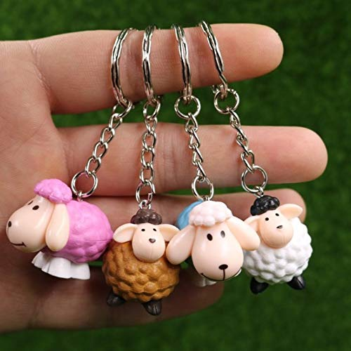 (Astra Gourmet 3D Sheep Shaun Keychain Pendant, Novelty Key Ring, Birthday Party Favors Kids Adults, Carnival Prizes Classroom Gifts Toys - Set of)