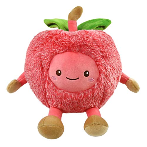 Athoinsu Stuffed Animals Cherry Shaped Fruits Cuddly Soft Plush Toys Home Car Office Decor Festival Gifts for Kids Friends, Watermelon Red, 11.5''
