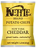 Kettle Brand Potato Chips, New York Cheddar, 1.5-Ounce Bags (Pack of 24)