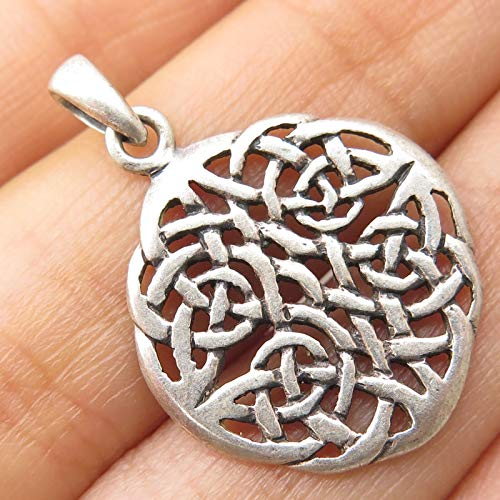 Peter Stone 925 Sterling Silver Viking Celtic Knot Motif Openwork Pendant Jewelry Making Supply by Wholesale Charms ()