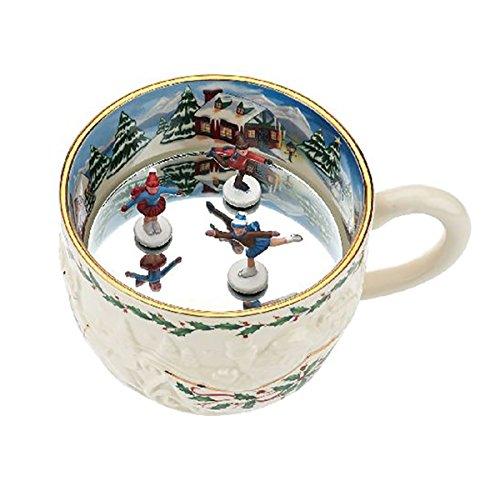 l Mug Tea Cup Dimensions Skaters Play Jingle Bells (Scene Porcelain Mug)