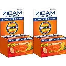 [Patrocinado] zicam Cold Remedy rapidmelts de cítricos, 25Quick disolver tabletas (2Pack), clínicamente probado, acorta resfriados, uso en 1er signo, Homeopática, para adultos