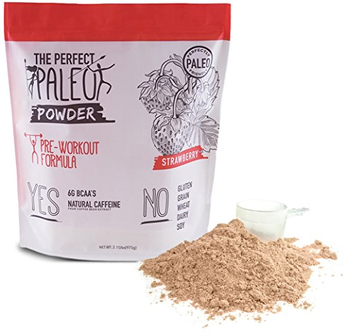 Clovis: Pre-Workout Collagen Superfood Powder - 30 Servings - Helps Build Lean Muscle Mass - Powered By 10 Grams of Beef Collagen Protein - BCAA's - Strawberry.