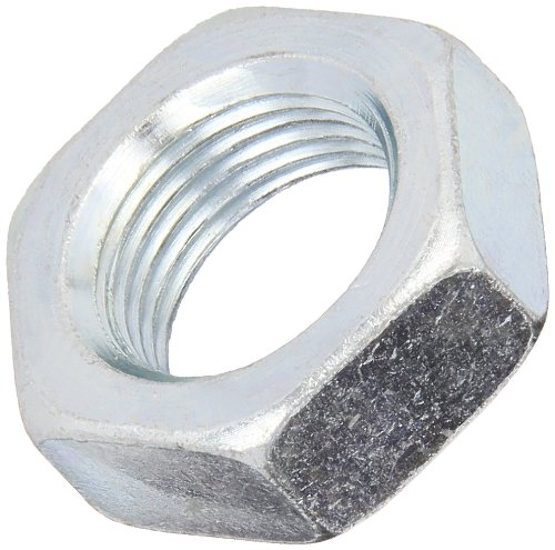 (Steel Hex Jam Nut, Zinc Plated Finish, Grade 2, ASME B18.2.2, 7/16