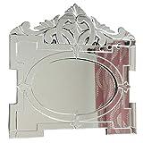 IndianShelf Handmade Vintage Decorative New Design Glass Wood and Iron Oval Shaped Venetian Mirror in Rectangular Frame