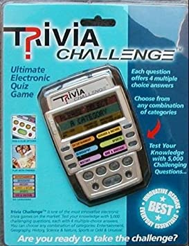 Handheld Electronic Trivia Quiz Game with 6 Categories 5000 question!