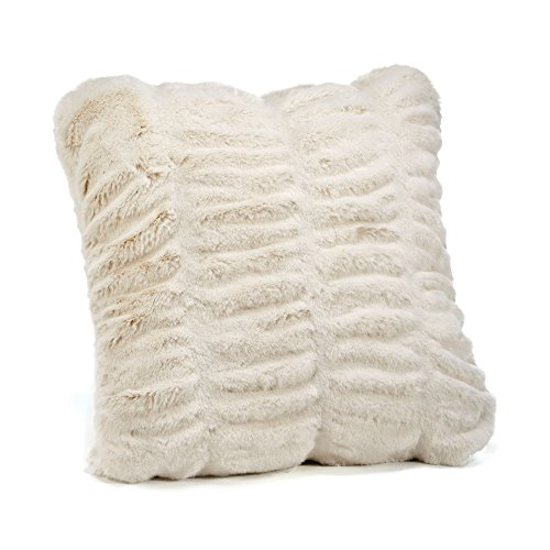 Fabulous Furs: Faux Fur Luxury Pillow, Ivory Mink, Available in standard size 18