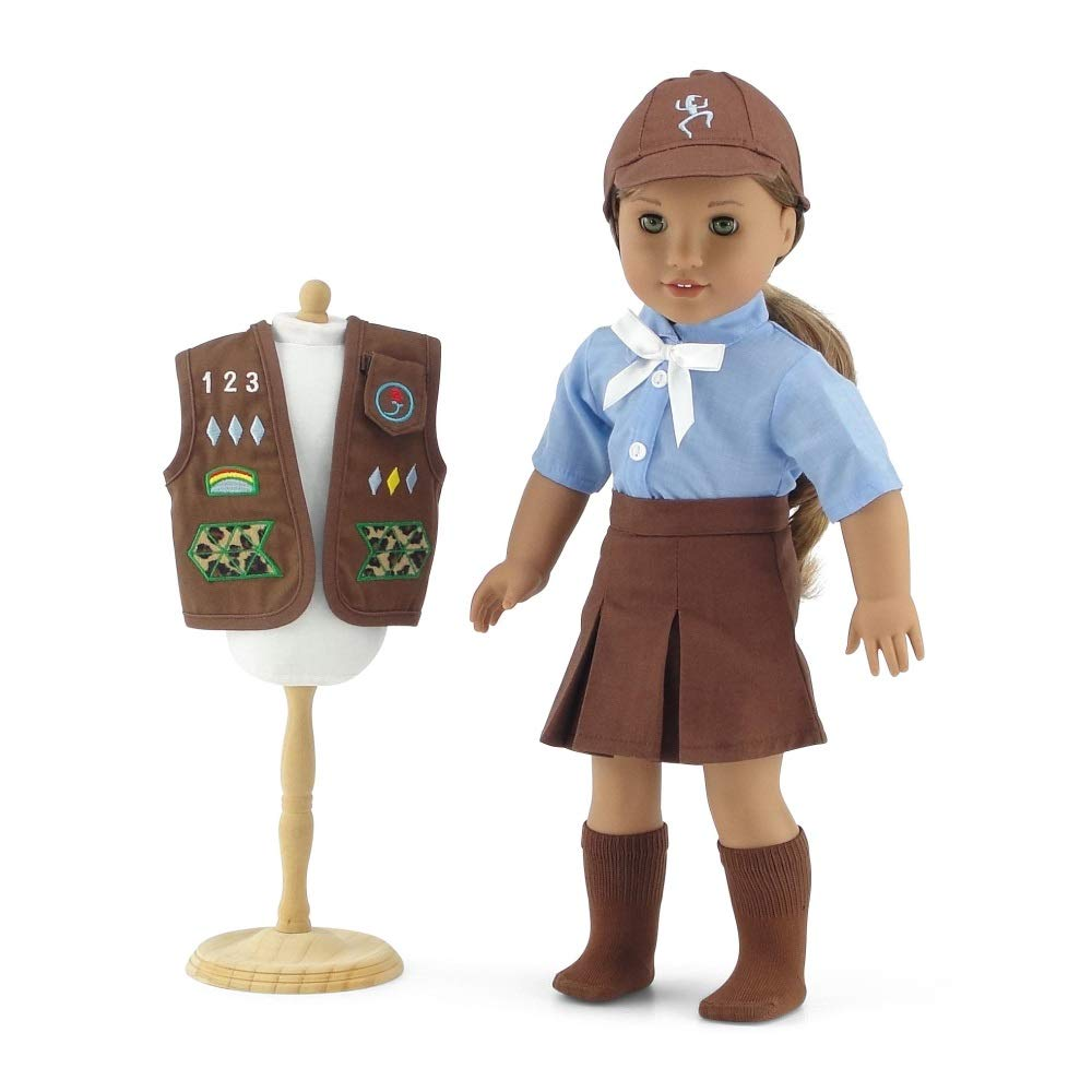 Amazon.com: 18 Inch Doll Clothes Like Brownie Girl\'s Club Outfit ...
