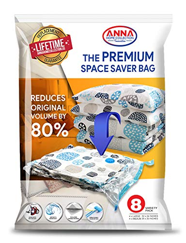 Anna Home Jumbo Vacuum Storage Bags (4 x Large, 4 x for sale  Delivered anywhere in USA