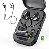 Bluetooth Headphones, VFAD Adjustable Bass Wireless 4.2 Earbuds with Mic Sweat Proof Running Headsets for Gym with Portable Power Box Sport Earphones