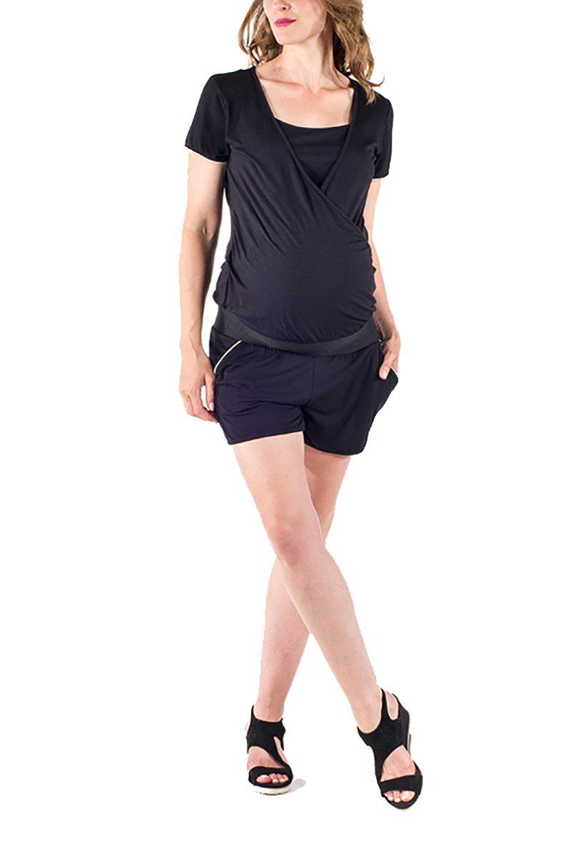 Love2Wait Mayorista Pantalón Corto Maternidad Umstandsshorts Short o. Vaqueros Cortos Moda premamá Pantalón De Mujer C151056