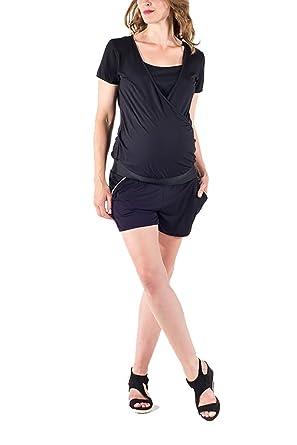 Love2Wait Mayorista Pantalón Corto Maternidad Umstandsshorts Short o. Vaqueros Cortos Moda premamá Pantalón De Mujer