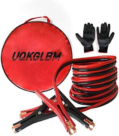 [해외]UQKGLBM 점퍼 케이블 4 게이지 X 20 피트 비상 파워 스타터 부스터 케이블 / UQKGLBM Jumper Cable 4 Gauge X 20 Ft Emergency Power Starter Booster Cable