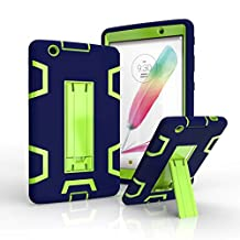 LG G Pad 3 8.0 inch [V525] Case,Rugged High Impact Hybrid Drop Proof Armor Defender Full-body Protection Case Convertible Built in Stand for LG G Pad 3 8.0 /G Pad X 8.0 inch V520/V521/V522/V525 (Darkblue/Green)