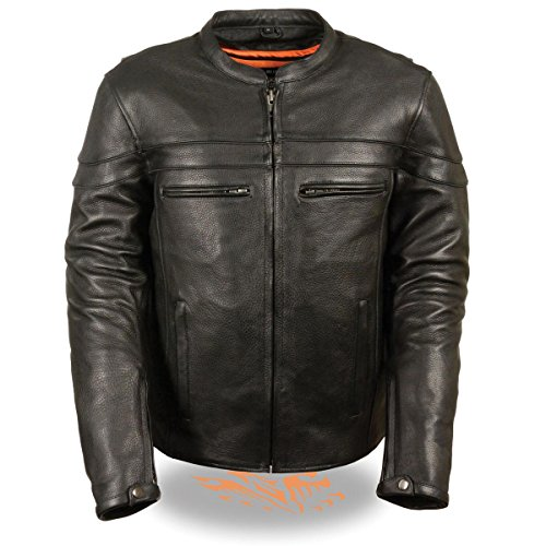 Milwaukee Leather Mens Sporty Crossover Leather Scooter Jacket with Gun Pocket - X-Large from Milwaukee Leather