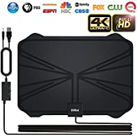 Skywire TV Antenna, 2018 NEWEST VERSION 4K Digital HDTV Antenna Kit Indoor with Amplifier Signal Booster, Receive HD Signals1080P 4K Free TV Channels with 65 Miles Long Range