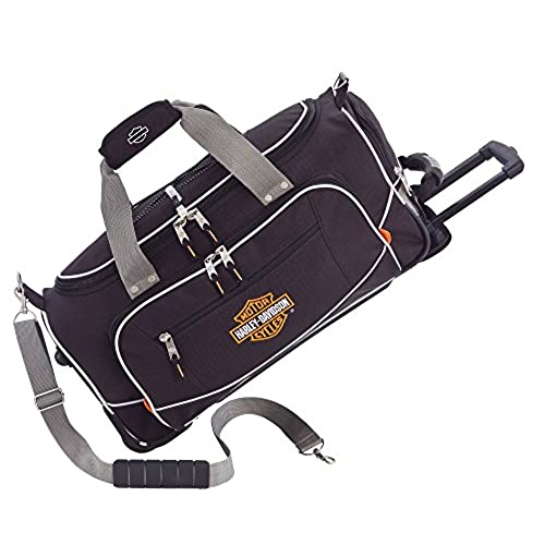 Harley Davidson 21 Inch Carry On Travel Duffel, Black, One Size