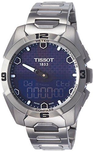 .44.041.00 T-touch Expert Solar Blue Dial Titanium  Watch (T-touch Titanium Watch)