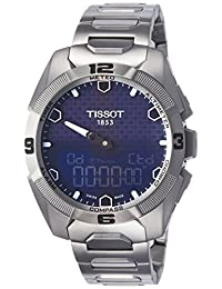 Tissot Mens T091.420.44.041.00 T-touch Expert Solar Blue Dial Stainless Steel Watch