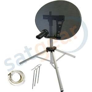 Satgear - Antena parabólica portátil (43 cm, sin localizador de satélites) [Importado de Reino Unido]
