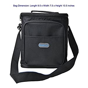 GreEco 18 Can Cooler Bag, Lunch Box Bag, Insulated Picnic Bag, Black