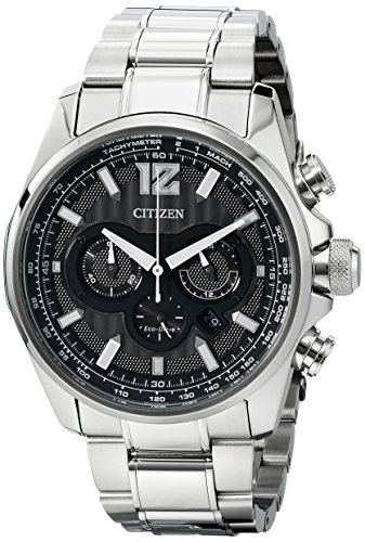 Citizen Men's CA4170-51E Shadowhawk Eco-Drive Stainless Steel Bracelet Watch