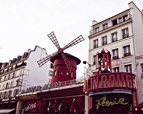 - Paris France Moulin Rouge Photo 8x10 inch print