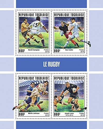 Togo - 2019 Sport of Rugby - 4 Stamp Sheet - TG190145a