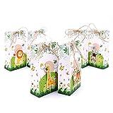 Aytai 24pcs Large Jungle Safari Zoo Animal Favor Boxes, Handmade Animals Cardboard Favor Candy Treat...