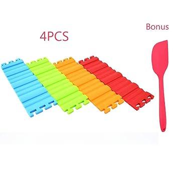 Moldes de silicona para tartas, diseño de moldes de silicona flexible para hornear tartas, diseño de tus tartas en cualquier forma que quieras (4 unidades): ...