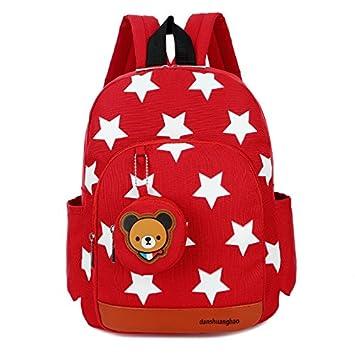 Tery Bonita Mochila Regalo Mochila para niños de guardería Kindergarten Mochila para niños Creativa de Dibujos Animados (Rojo): Amazon.es: Juguetes y juegos