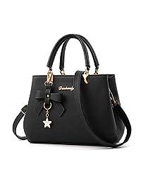 Mn&Sue Women Handbags Fashion Handbags for Women PU Leather Shoulder Bags Messenger Tote Bags