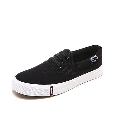 Amazon.com: Para mujer Zapatillas de lona zapatos Mocasines ...
