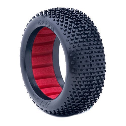 AKA Products 14001VR Racing Buggy I-Beam Super Soft Tire with Red Inserts, Scale 1:8 by AKA Products, Inc.