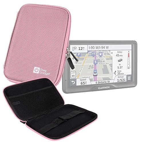 Price comparison product image DURAGADGET Pink Shell Hard EVA Cover Case And Cover with Dual Zips for Garmin nüvi 2797 LMT, Garmin nüvi 2798 LMT-D, Garmin nüvi 2797LMT & Garmin Nüvi 65LM