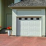 Best modern garage door opener - Decorative Magnetic Garage Door Window Panes- Black Review