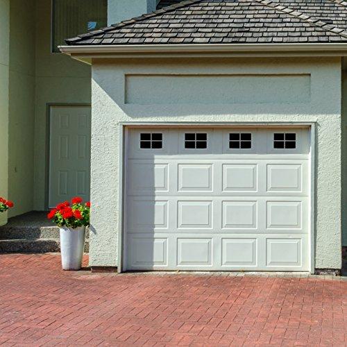 Decorative Magnetic Garage Door Window Panes- Black (1 Car Garage)