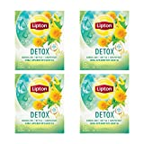 Lipton Herbal Supplement with Green Tea, Detox 15 ct, Pack of 4
