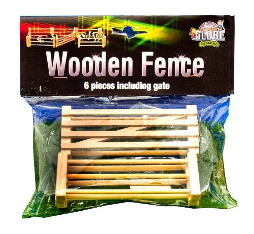 Six Fences (Kids Globe Farm Pack Of 6 Miniature Fences)