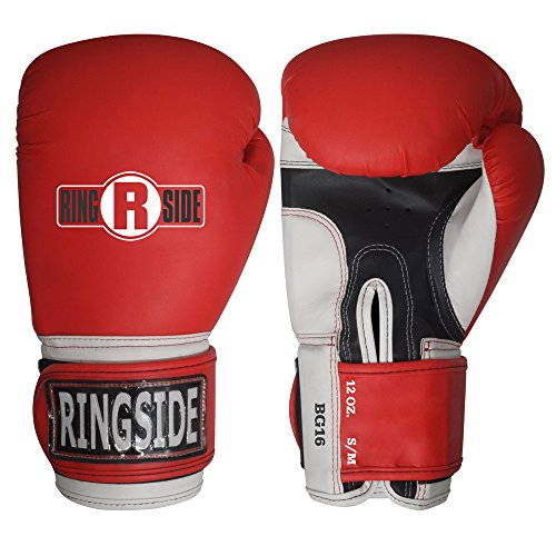 Ringside Pro Style Boxing Training Gloves Kickboxing Muay Thai Gel Sparring Punching Bag ()